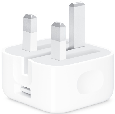 Apple USB Power Adaptor With Folding Pins Very Good - 5w - White