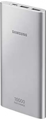Samsung Faster Charging Technology Battery Pack Pristine - Silver - 10000 Mah