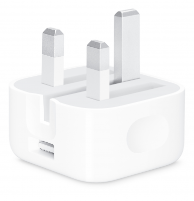 Apple Official 5w USB Plug With Folding Pins Good - 5w - White
