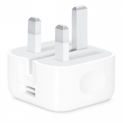 Apple Official 5w USB Power Adaptor with Folding Pins Fair - 5w - White